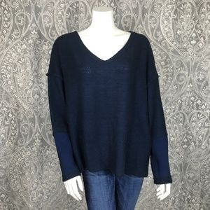 Free People Inside Out 2 Tone Dolman Sleeve Top
